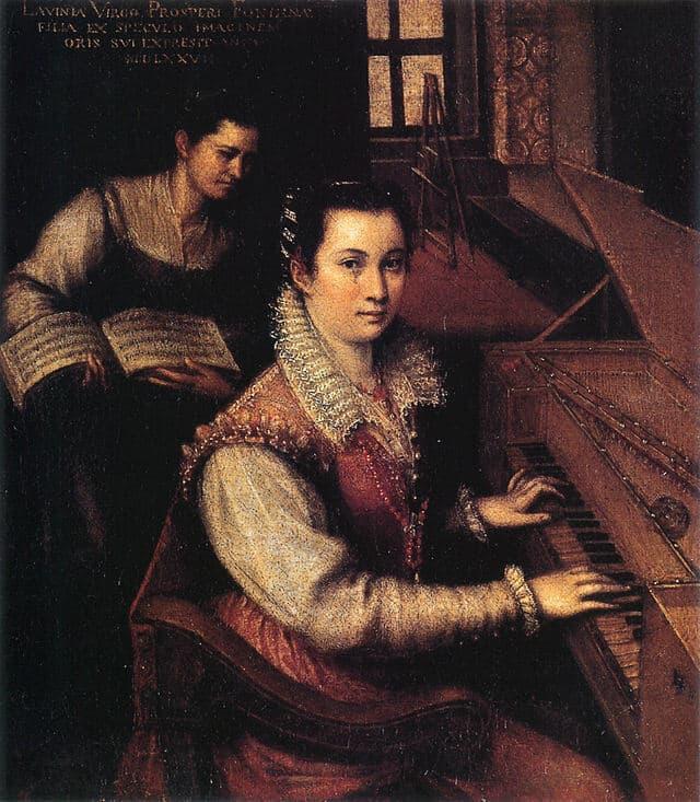 Lavinia Fontana Self Portrait Clavichord Servant