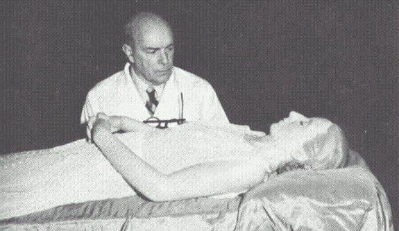Eva Peron on Deathbed Photograph