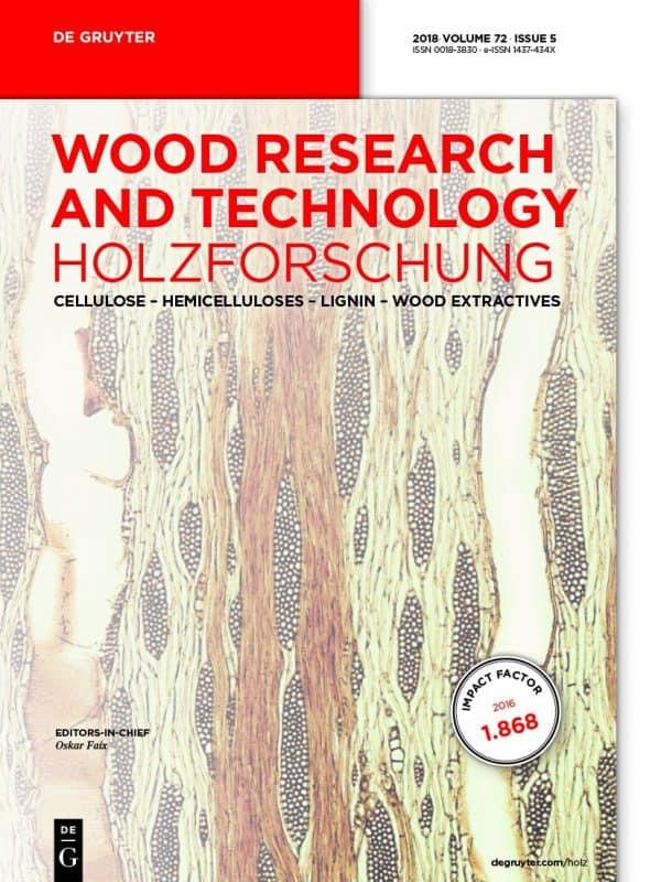 Holzforschung Journal Cover