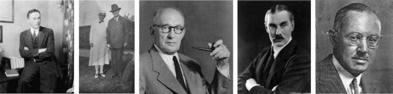 Walter Lippmann, Martin Egan, Arthur Wilson Page, Joseph Grew, Charles Merz