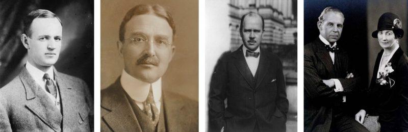 Willard D. Straight, Alonzo Englebert Taylor, Hugh Robert Wilson, Robert Woods Bliss